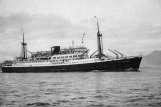 The Tjiwangi: Thellie's floating palace for the first stage of her Passage to Pusan in 1961.
