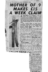 Courier Mail report of the day Thelma Healy went to court in November, 1955 to make her husband Mick pay maintenance.